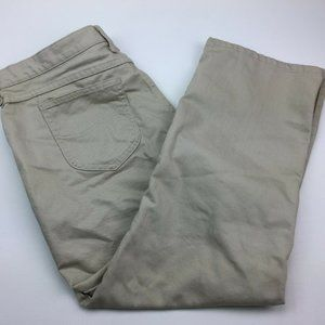 Lee Beige Pants Khaki Relaxed Straight Short 18